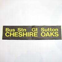 Cheshire Oaks bus blind destination Mold Chester vintage printed tyvek original