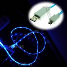 Blue 1M 3Ft Micro USB Male to USB A Male Illuminating Data Sync Charge Cable CRY