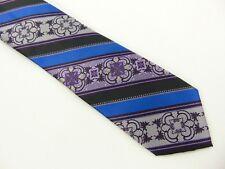 Pierre Cardin Mens Neck Tie Purple Blue Black Gray Hand Made 57 Inches Long