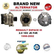 FOR RENAULT ESPACE III 2.0 16V JE F4R 1998-2002 BRAND NEW ALTERNATOR OE QUALITY