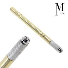 Herramienta microblading-Cejas spmu-Manual microcuchillun pluma tatuaje oro Peso Pesado