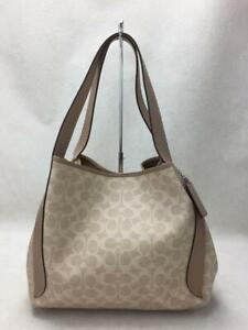 COACH 79250 Hadley Hobo Pvc Beg  Pvc  Beige Fashion Tote bag 361 From Japan