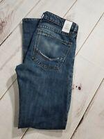 """Ezekiel 303 Mens Size 30 Inseam 32"""" Jeans Dark Denim Wash Slim Straight Leg Jean"""