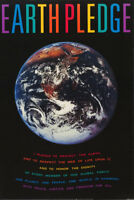 POSTER :PHOTO :  EARTH PLEDGE  - FREE SHIPPING   - #PTW699 RC47 J