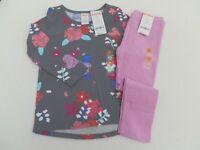 Gymboree Girls Gray Unicorn L//S T-shirt Tunic matching Pink Leggings 2T 3T 4T