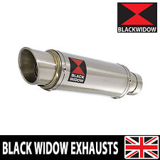 BLACK WIDOW STAINLESS EXHAUST SILENCER END CAN 230mm GP STYLE SLIP ON 230SR