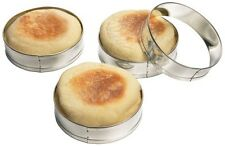 Fox Run 4685 English Muffin Rings Tin-Plated Steel Set of 4