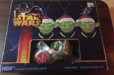 Star Wars Yoda Christmas Light Cover Set 9 Yoda Lights Indoor/Outdoor Used W/Box