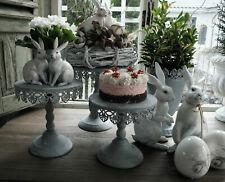 Pokal Amphore Übertopf Grau Shabby Vintage Nostalgie Garten Landhaus 3 Größen