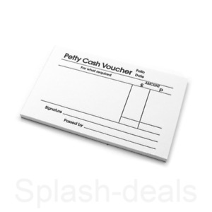 Petty Cash Voucher Book Pad - 88 x 138mm - Pre Printed Petty Cash Slips