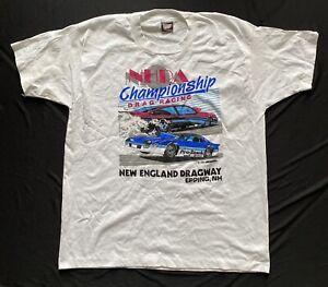Vintage 1987 New England Dragway NHRA Championship Drag Racing T-Shirt-XL