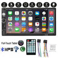 7''Car Radio Stereo Touch Screen Double 2Din Bluetooth MP5 AUX FM In-Dash+Remote