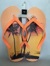 GAP MEN'S MULTI-COLOR WITH SUNSET AND PALM DESIGN FLIP FLOPS SANDALS SIZE 10