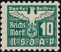 Stamp Germany Revenue Parteitag WWII 1935 3rd Reich War Era Party Due 010 MNG