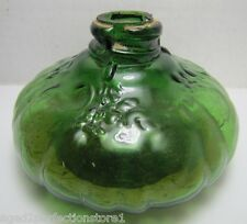Antique 19c Green Glass Oil Lamp unusual small detailed Pat Aug 27 1895