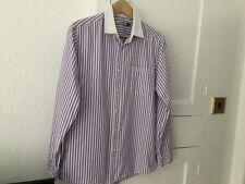 Topman Shirt Size Medium (15.5) Pinstripe With White Collar.
