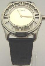 Authentic CORUM Quartz Leather Strap 138.500.20 Silver Dial 38 mm Size: 7-8.5in