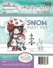 Winnie Snow Much Fun - PD7963 Polkadoodles Christmas Clear Cling Stamp