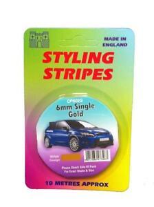Gold 6mm x 10mtr Self Adhesive Car Pin Stripe Coach Tape Syling Stripe