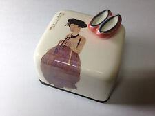 Korea Portrait of a Beauty Orgel Music Box Paperweight Ceramic Hand Craft Figure