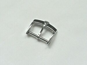 16mm white metal buckle with crown logo to fit 16mm strap