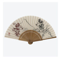 Tokyo Disney Resort Limited Mickey & Minnie Mouse Japanese hand fan