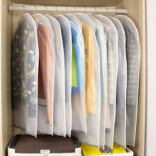 5Pcs Clear Garment Bags Clothing Suit Cover Dust-Proof Cloth Storage Protector