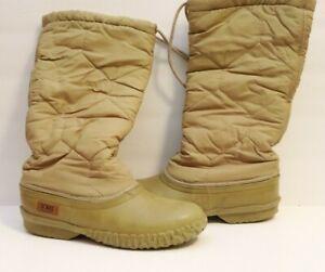 Sorel Womens Size 9 Winter Snow Boots Beige Tan Vintage