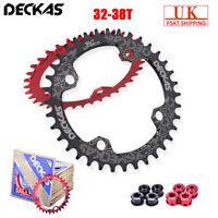 DECKAS 32/34/36/38t MTB Bike Chainring 104bcd Narrow Wide Chainwheel + Bolts UK