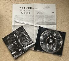 "PRINCE ""COME"" 1994 CD JAPAN PRESSING JAPANESE RELEASE + INSERT"