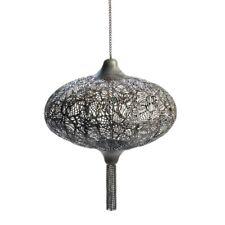 Plume Hanging Candle Lantern Burnished Metal Exotic Lighting Decor10015534