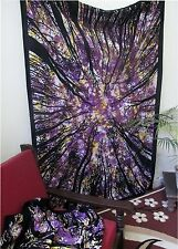 Twin Tree Of Life Indian Tapestry Wall Hanging Bohemian Bedspread Decor Tapestry