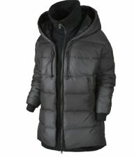 Women's Nike Uptown 550 Down Puffer Cocoon Jacket Coat 683928 010 Black Size M