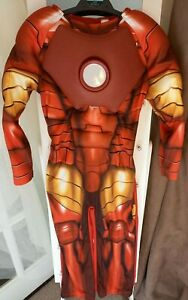 BOYS SIZE 5-6 YEARS AVENGERS IRON MAN COSTUME GOOD CONDITION