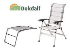 Dukdalf Stuhl Cha Cha mit Fußteil Sampler  0649 silber/anthrazit Campingstuhl