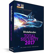 Bitdefender Total Security 2017 Multi-Device, 5 Devices: Sealed U.S. Retail Box