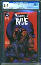BATMAN VENGEANCE OF BANE #1 - CGC 9.4 - WP - NM - 1ST BANE - 1ST PRINT