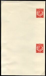 1913 circa KGV Printed Postcards 1d UNCUT Pair