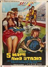 Les CHARLOTS LES FOUS DU STADE Italian 2F movie poster 39x55 1972