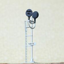 1 x HO scale model tri-lights block signal fine made metal 2 opposite targets