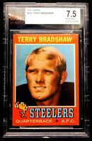 1971 Terry Bradshaw Rookie BVG 7.5 Topps #156 Outstanding Rare Card