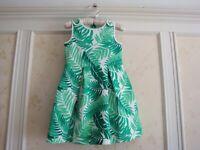 NWT Janie And Jack  Summer Tropics  Girls PALM PONTE DRESS  4 4T
