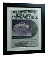 COMMODORES+RICHIE+Midnight Magic+POSTER+AD+ORIGINAL+1979+FRAMED+FAST GLOBAL SHIP