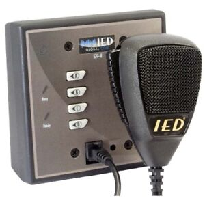 New IEDA524-H  4 Button Wall Mount Digital Microphone Paging Station