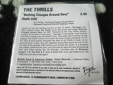 Thrills, The ‎– Nothing Changes Around Here  Virgin ‎– CDr Promo UK CD Single