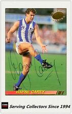 1994 Select AFL Trading Card Signature Gold Card G17 WAYNE CAREY (Nth.Melbourne)