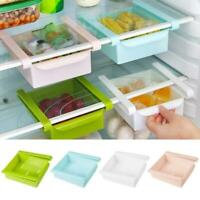Slide Kitchen Fridge Freezer Space Saver Organizer Storage Rack Shelf Holder Box