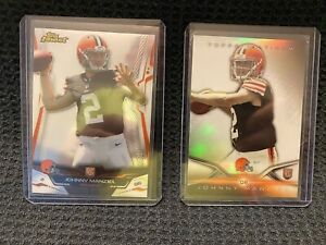 Johnny Manziel 2014 Rookie Lot 2-card Topps Finest And Topps Platinum Refractor