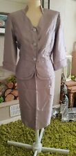 Mother Of The Bride 2 Piece Dove Grey Skirt Suit Size 10 Wedding Office Work