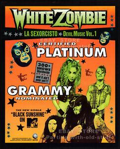 WHITE ZOMBIE__Original 1994 Trade AD promo / poster__La Sexorcisto__ROB ZOMBIE